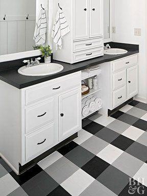 How To Paint Buffalo Check Vinyl Flooring Painted Vinyl Floors Kitchen Flooring Vinyl Flooring Kitchen