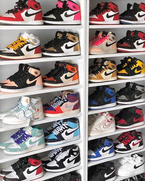 Pick your favourite Jordan 1 😍 Row 1,2,3,4,5,6 . Tag a Jordan addict 👀 . . . #sneaker #sneakers #sneakersaddict #sneakeraddict…