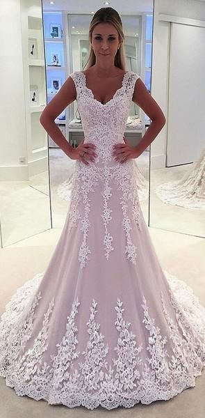Lace Strapless A Line See Through Cheap Wedding Dresses Online Wd339 2020weddingdress Wed In 2020 Online Wedding Dress Lace Applique Wedding Dress Ball Gowns Wedding