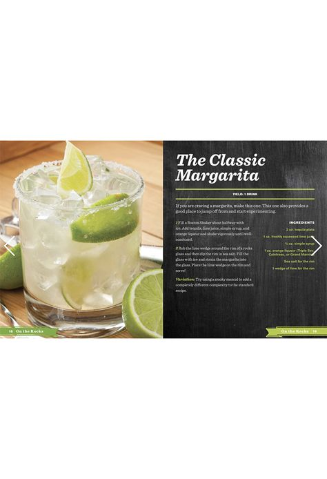 About The Book Add a citrusy twist to your gatherings and parties with over 101 Margarita recipes!Margaritas presents the ultimate handbook of over 101 recipes for making this festive and popular cocktail. Learn about this citrusy cocktail's Mexican origins and its journey to the United States and the rest of the world. Whether you prefer your drink frozen or on the rocks, Margaritas provides plenty of ways to serve this party favorite, including creative garnishes, and recipes for delicious moc