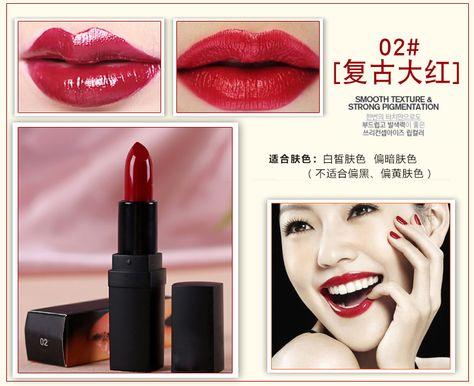 Aliexpress.com: Comprar 2015 nueva barra de labios mate famosa marca Sexy subió lápiz labial rojo profesional a prueba de agua cosmética Batom de Lápices Labiales fiable proveedores en Brand Makeup Discount Store