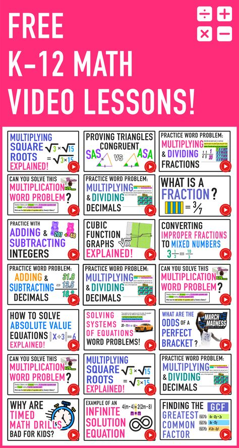 Free Math Videos for Kids (Grades 1-12) — Mashup Math