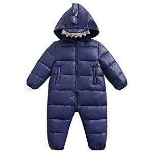 Happy Cherry Baby Hoodie Jumpsuit Snow Suit Winter Zip Up One-Piece Coat