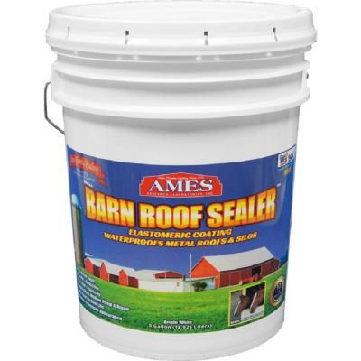 Ames 5 Gal White Barn Roof Sealer Waterproof Metal Roof And Silo Reflective Roof Coating Brs5 The Home Depot In 2020 Barn Roof Roof Sealer Roof Coating