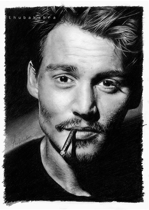 Amazing Pencil Drawings - Johnny Depp by ~hrm-n on deviantART