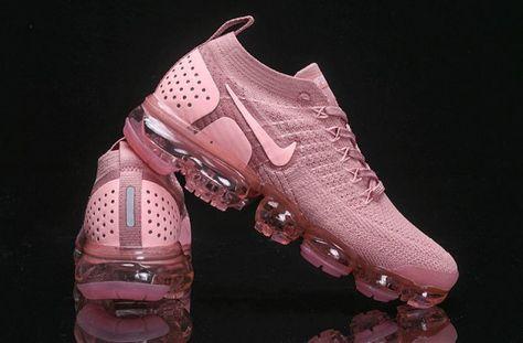 ef7bb4f3cc601 New Arrivel Nike Air VaporMax Flyknit 2. 0 W Sakura Pink 942843 500 Womens  Running Shoes Girls Summer Trainers