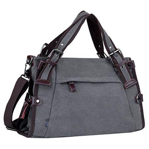 marktfähig klassische Passform feinste Stoffe Coofit Damen Canvas Umhängetasche Messenger Bag Handtasche ...
