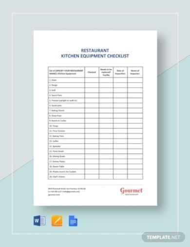 Printable Kitchen Remodel Checklist Pdf Kitchen Equipment List Kitchen Equipment Restaurant Kitchen