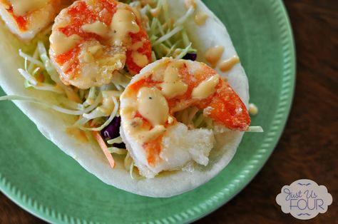Bang Bang Shrimp Taco Boats - Just Us Four