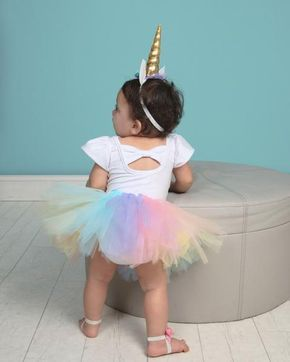 5b60feaed Girl's Rainbow Unicorn Birthday Outfit in 2019 | Rylee 1 | День ...