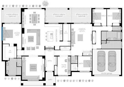 Floor Plan Friday Acreage Style With 4 Bedrooms Activity And Study House Plans Australia Floor Plans Dream House Plans