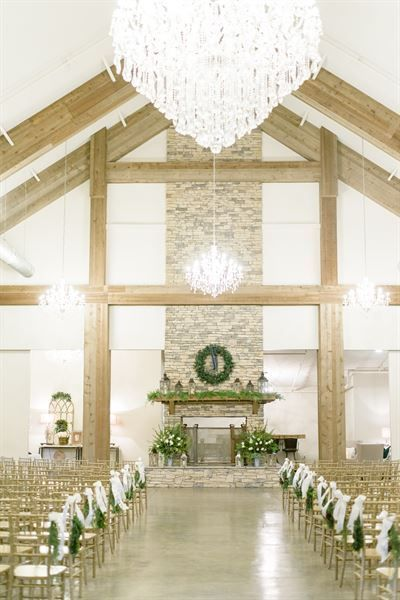 Stunning Indoor Wedding Ceremony Space At The Park Crest Event