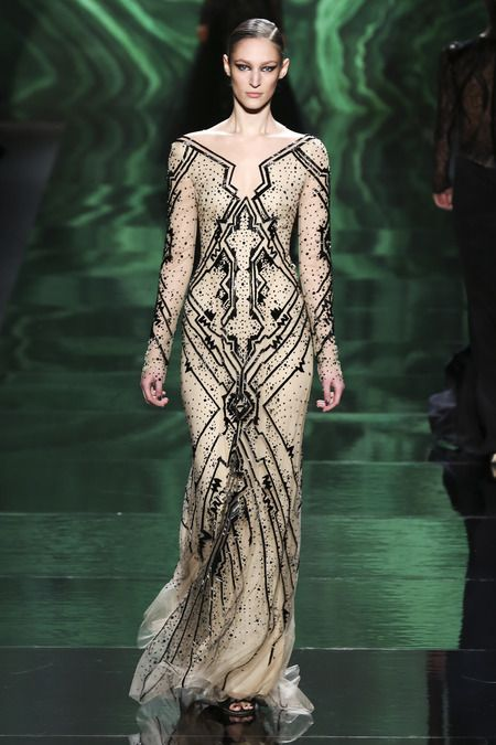Monique Lhuillier | Fall 2013 Ready-to-Wear Collection | Style.com art deco great gatsby wedding dress black vintage
