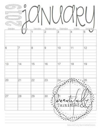 2019 Free Printable Calendars Calendar Printables Free