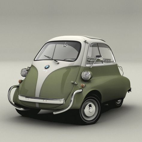 They really made it : the Isetta , 1962. You could not park in front of wall or you could not open the door (only at the front) and reverse gear ? : http://www.youtube.com/watch?v=pwDZqAW8M4I