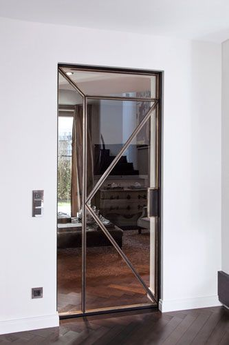 Stahl Glas Tur Schiebetur Glas Haus Deko Schiebetur