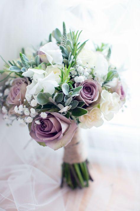 Bouquet Sposa Viola.Driftwood Flowers Mauve And White Bridal Bouquet Fiori Nuziali