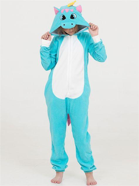Детские пижамы Футужама Детская пижама-кигуруми Бирюзовый Единорог (3-4  года) bdbf16b128e52