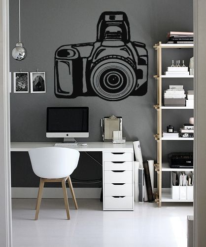 Wall Decal Sticker Bedroom Retro Photo Camera Photography Studio 106b Photography Office Home Studio Photography Photography Studio Setup