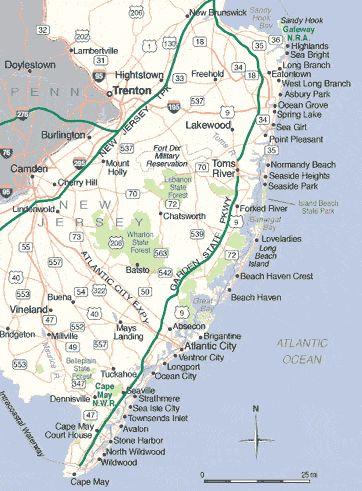 Jersey S Beach Map Summer Pinterest