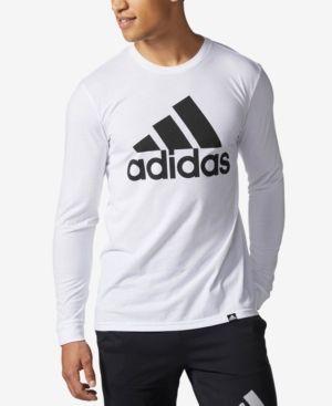 Adidas Originals Adidas Men's Logo Long-sleeve T-shirt In White ...