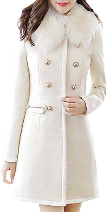 Likecrazy Winter warme Trenchcoat Frauen Faux Wollmantel