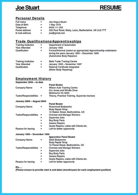 Awesome Delivering Your Credentials Effectively On Auto Mechanic Resume Car Mechanic Resume Mechanic