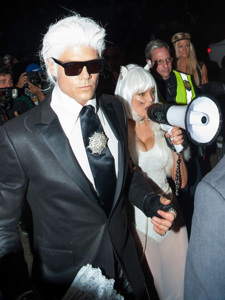Josh Duhamel & Fergie as Karl Lagerfeld and Choupette - Celebs Dressed As Other Celebs For Halloween - Photos