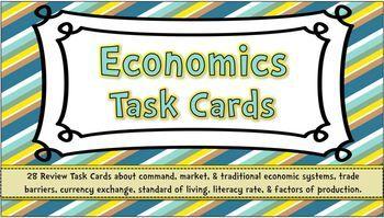 Task Cards Economics In 2021 Task Cards 6th Grade Social Studies Economics