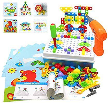 Akokie Juguetes Montessori Puzzles Rompecabezas Bloques Construccion Niños Con Taladros Juegos Educ Juguetes Montessori Juguetes Para Niñas Juguetes Educativos