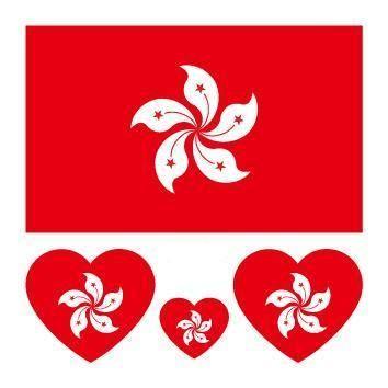 Hong Kong Flag Heart Shape Temporary Tattoo Sticker Tattoo Stickers Temporary Tattoos Tattoos