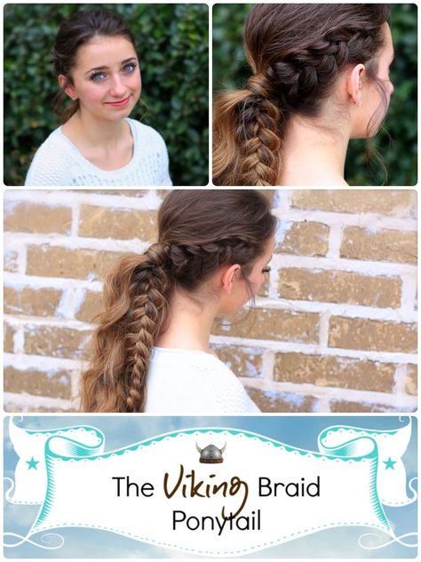 The Viking Braid.  Can be worn for a boho look or an edge look.  SO EASY!  #hairstyles #CuteGirlsHairstyles #CuteGirlHair #hairstyle #braid #braids #boho #DIY