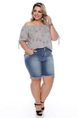 387d04bee Shorts Jeans Plus Size Josiany   Daluz Plus Size - Loja Online - Daluz Plus  Size   A Loja Online Plus Size que mais cresce no Brasil!