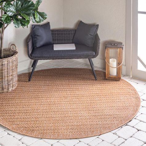 Round Area Rug Indoor Outdoor