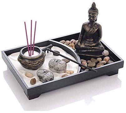 Bruleur D Encens Bougeoirs Bouddha Zen Garden Decoration De Meditation Amazon Fr Cuisine Maison Avec Images Jardin Zen Miniature Jardin Zen Decoration Zen