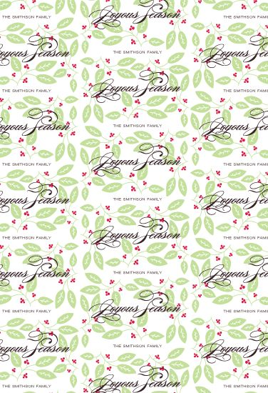 gift wrap - leaves and berry
