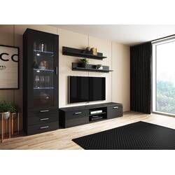 Sabala Entertainment Center For Tvs Up To 85 Modern Wall Units Entertainment Center Wall Unit