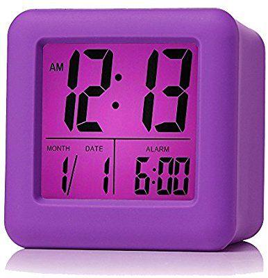 Amazon Com Plumeet Easy Setting Digital Travel Alarm Clock With Snooze Soft Nightlight Large Display Time Travel Alarm Clock Alarm Clock Digital Alarm Clock