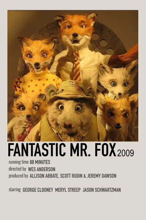 Fantastic Mr Fox By Alonzo In 2020 Fox Poster Fantastic Mr Fox Movie Classic Films Posters