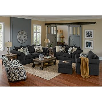 Living Room Furniture   Gramercy 3 Pc. Living Room W/Accent Chair | Living  Room Decorating Ideas | Pinterest | Living Room Furniture, Tan Walls And  Gray ...