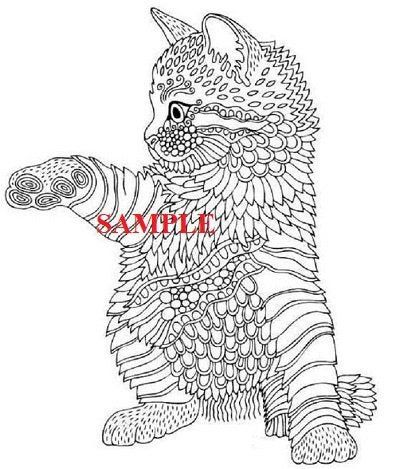 Kitten Giving A Paw Pdf Cross Stitch Chart Instantly Downloadable Animal Coloring Pages Animal Sketches Cat Drawing