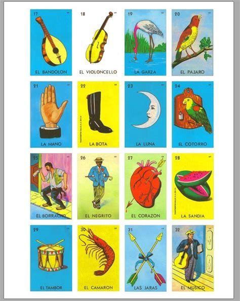 Loteria Mexicana Cartas Para Imprimir Loteria Cards Loteria Bingo Cards Printable