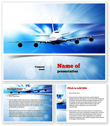 Business aircraft powerpoint template keynote aircraft and template toneelgroepblik Image collections