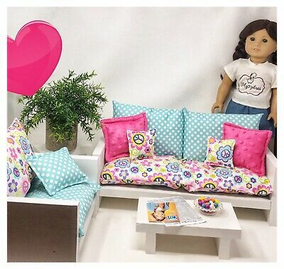 1 Sofa With Cushion Set 1 Chair With Cushion Set Don T You Just Want To Cozy Up On This Adorable Furniture 1 Coffee Doll Furniture Furniture Couch Furniture