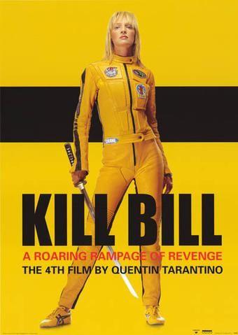 Kill Bill Movie Poster 24 x 34 S//S Caradine Uma Thurman  Quentin Tarantino Vol 1