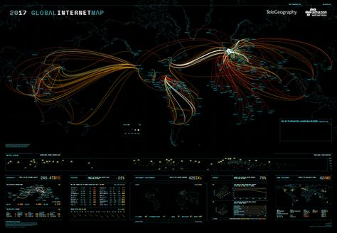 2017 Global Internet Map (free shipping) in 2019 | Internet