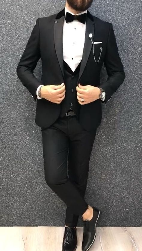 Page Black Slim Tuxedo is part of Mens hats fashion Product Page Black Slim Tuxedo Color code BLACKSize EU 464850525456 (Size Chart Below) Suit material Viscose, PolyesterMachine w -