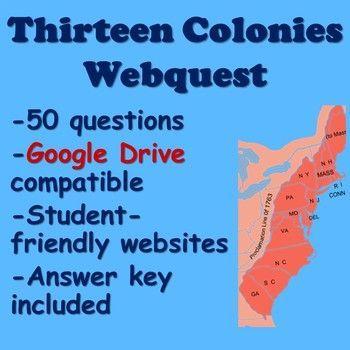 Peaceful thirteen colonies worksheet ideas in 2021