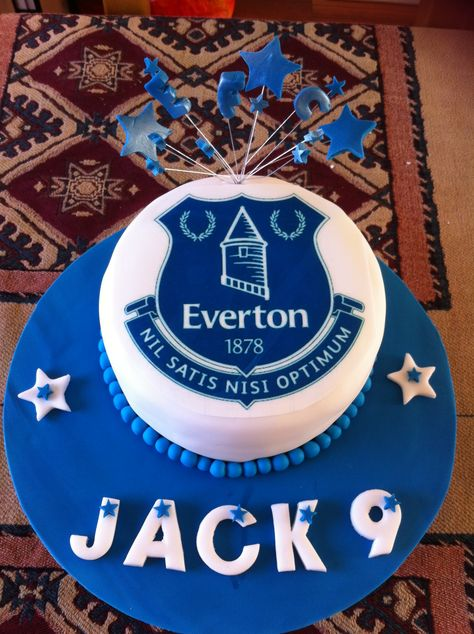 Jacks Everton Cake Football cake ideas Pinterest Cake Cake