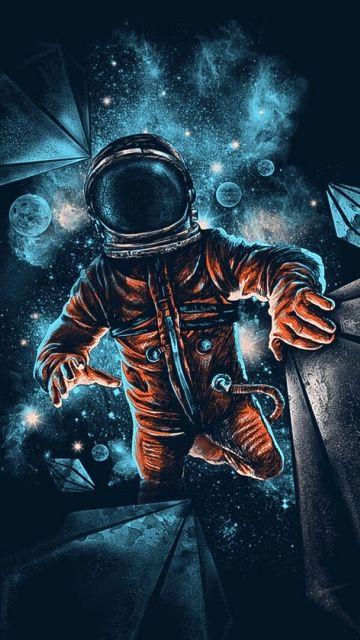 Space Astronaut Galaxy Dark Artwork 360x640 Wallpaper Wallpaper Space Astronaut Wallpaper Space Artwork